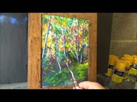 Beginners Knife Painting With Acrylic Paint Tutorial Painting
