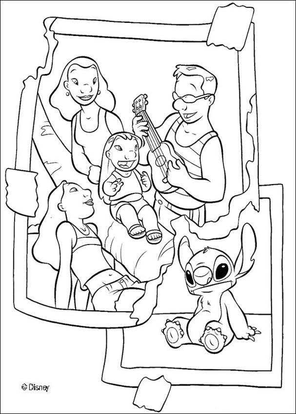 Lilo, her family and Stitch coloring page | coloring | Pinterest
