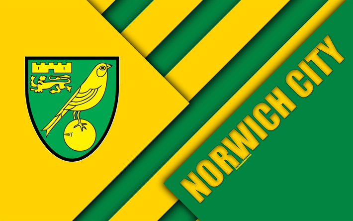 Download wallpapers Norwich City FC, logo, 4k, yellow