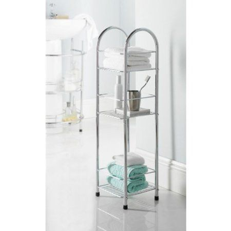 Chrome 3 Tier Bathroom Free Standing Shower Caddy Amazon Co Uk Kitchen Home Shower Caddy Bathroom Caddy Standing Shower