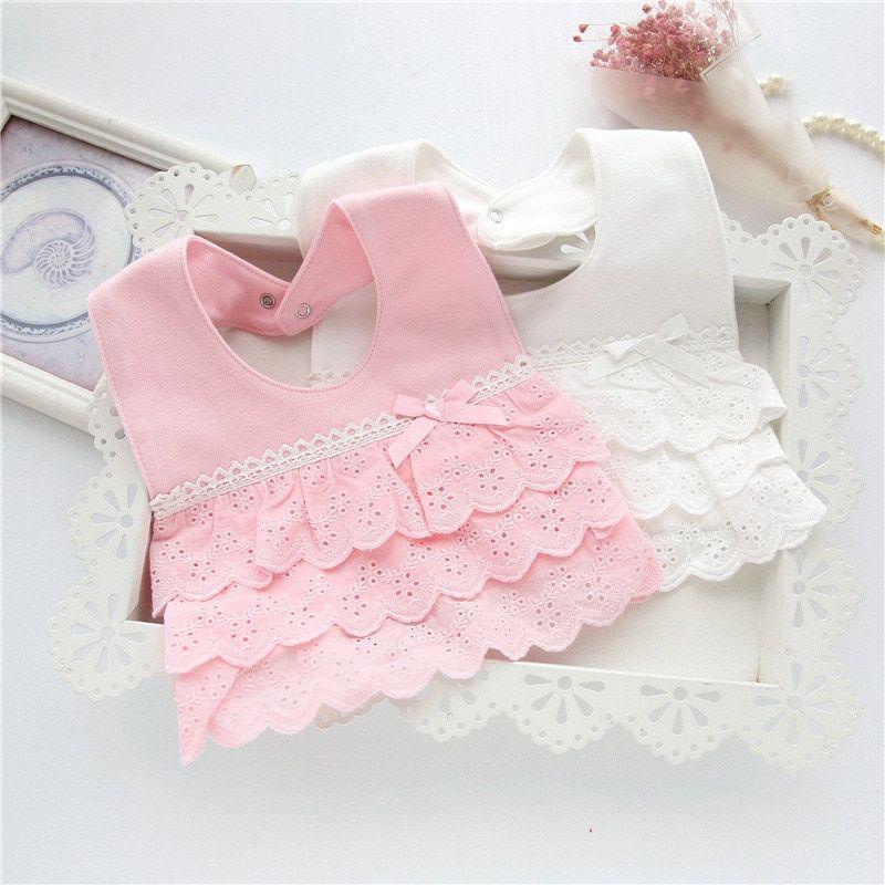 100/% Cotton Baby Bibs Burp  Lace Bow Bib Baby Cute Bib Infant Saliva Towels