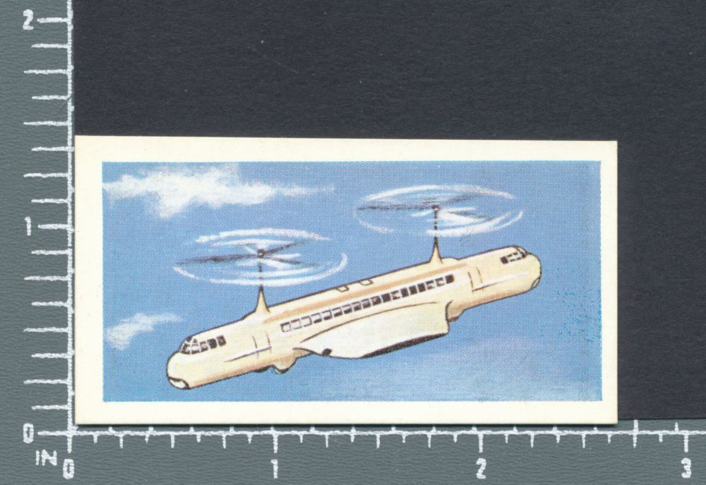 Helicopter Bus Transport Present and Future by Lucky Dip card #10
