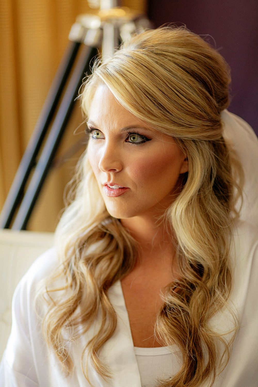design visage   bridal hair - half up/half down   bridal