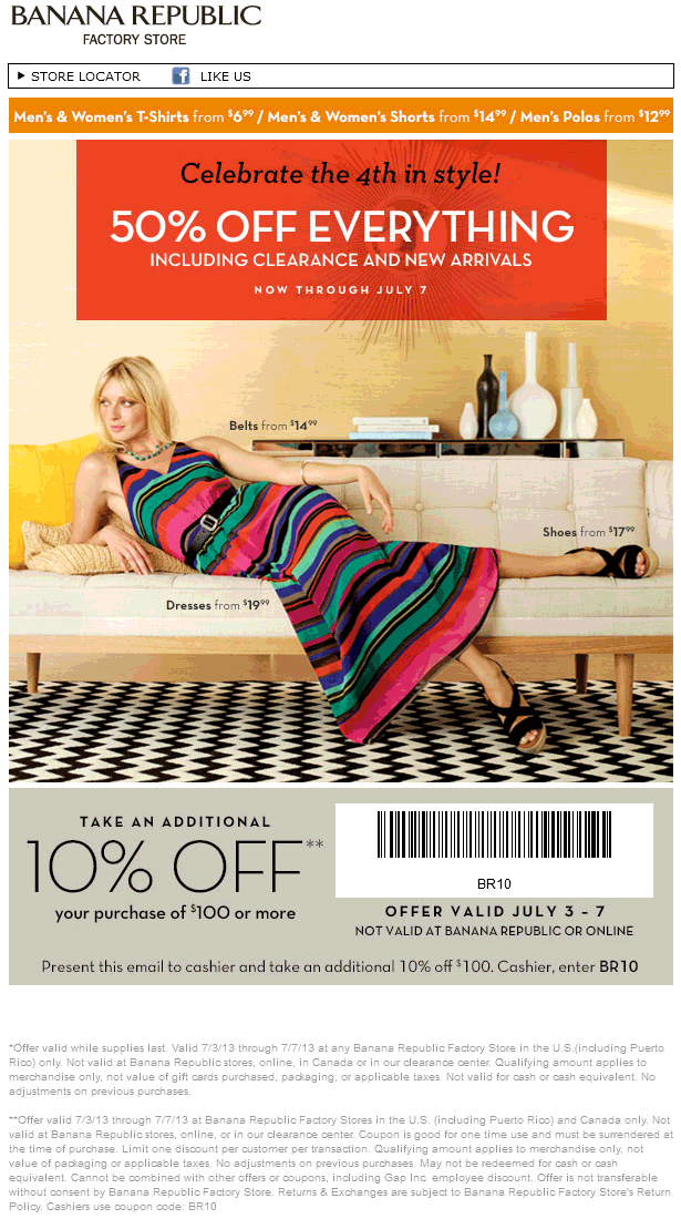 Banana Republic Factory Deal! Coupon apps, Banana republic