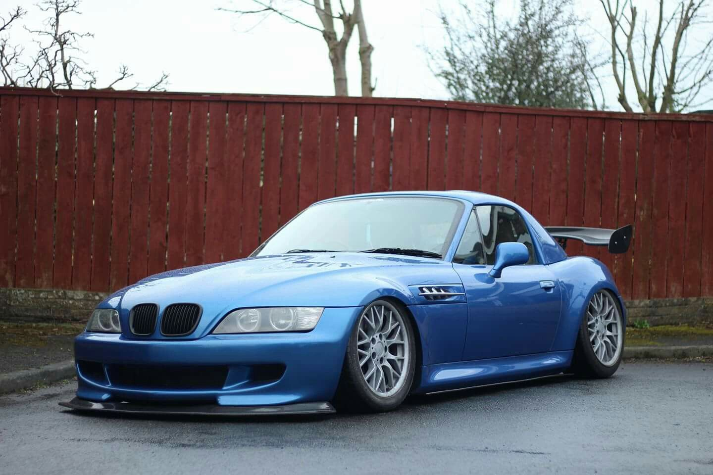 hight resolution of bmw z3 m roadster blue slammed