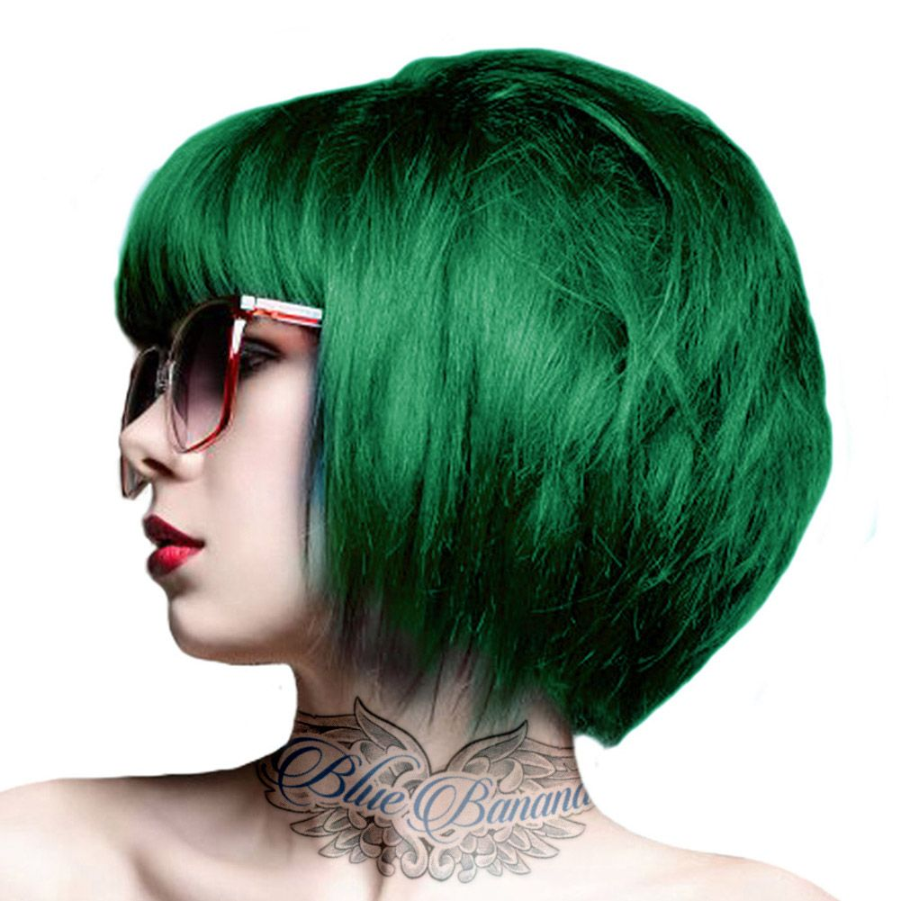 Crazy Color Semi Permanent Hair Dye 100ml Emerald Green Semi