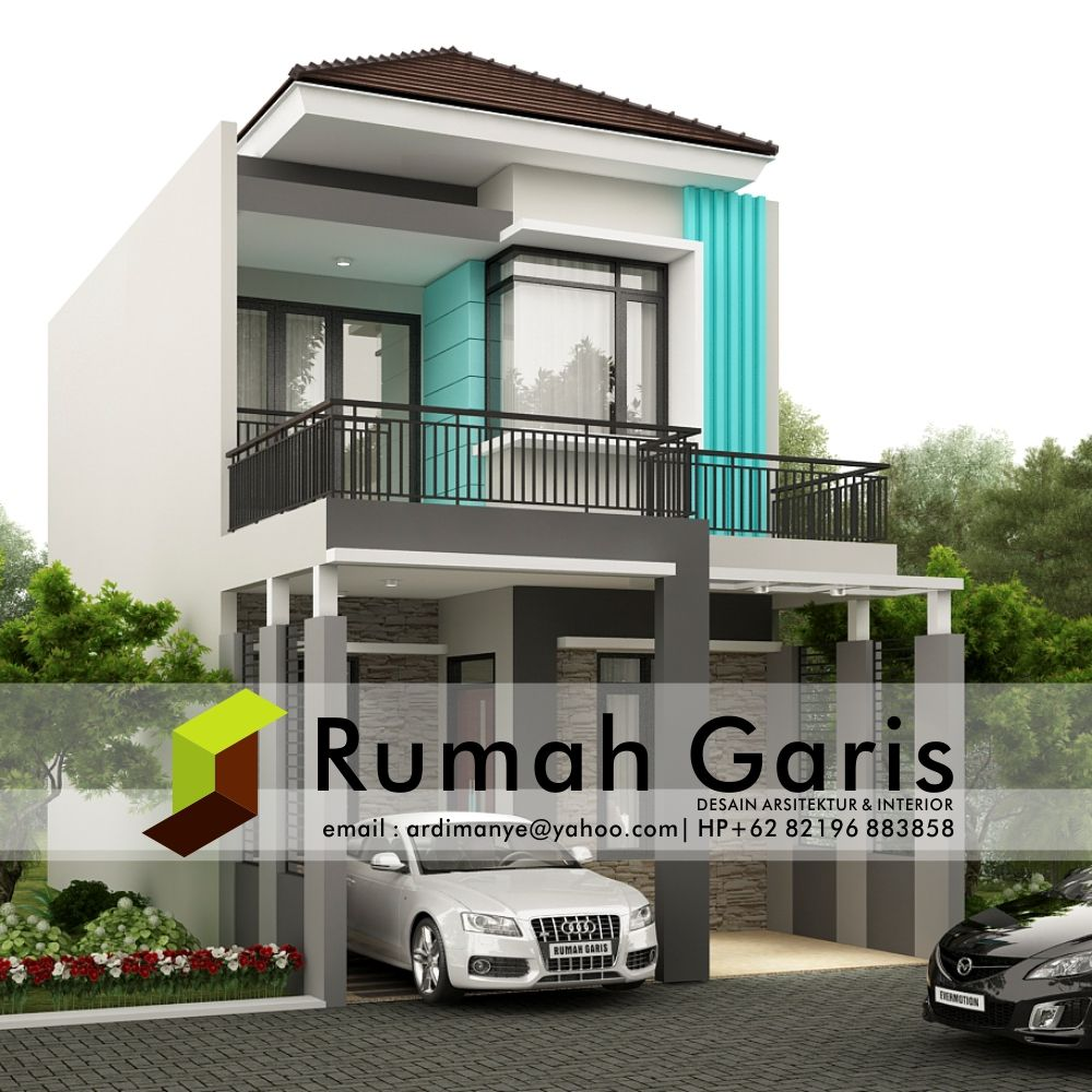 Desain Teras Rumah Minimalis Modern 2 Lantai Cek Bahan Bangunan