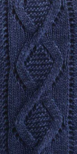 Lace Diamond Cable Knit Pattern Chart Only Zen Of Knitting Aran Adorable Diamond Knitting Pattern
