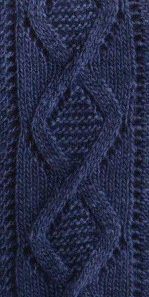 Lace Diamond Cable Knit Pattern Chart Only Zen Of Knitting Aran Adorable Diamond Knitting Pattern