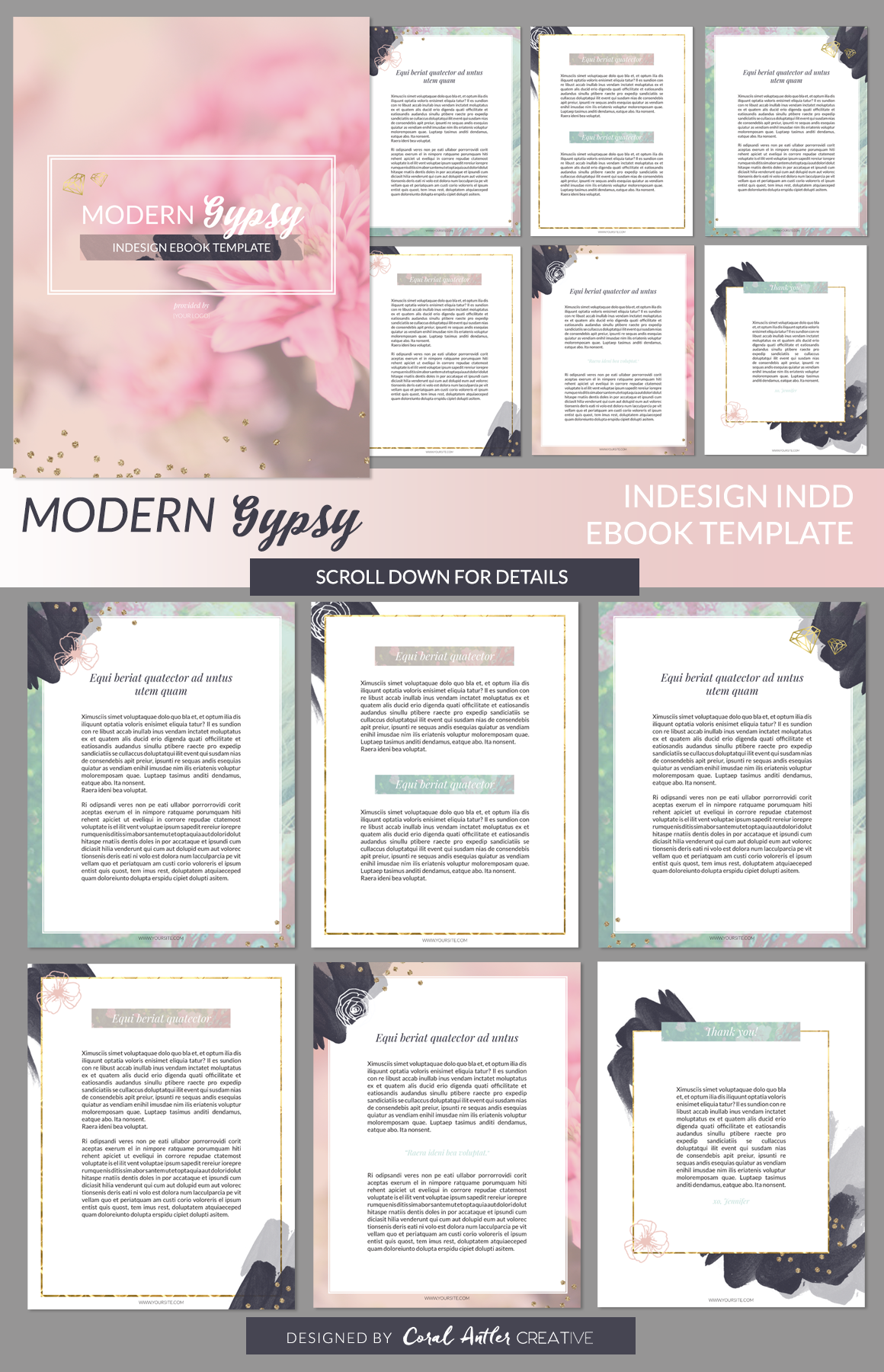 Modern Gypsy InDesign Ebook Template