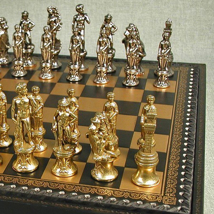 Premium Chess Set Staunton Chessman Inlaid Chess Board