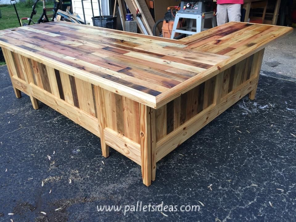 pallet office furniture. Pallets Office Table Pallet Furniture