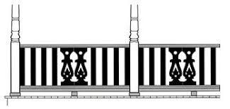 Image result for flat sawn balustrade | Fence design ...