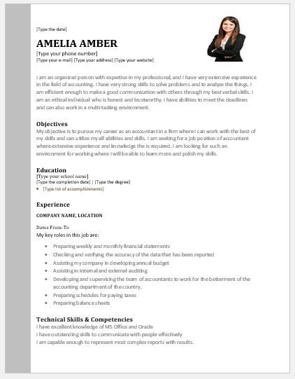 accountant resume accountant resume contents layouts and templates - Accountant Resume Sample Word