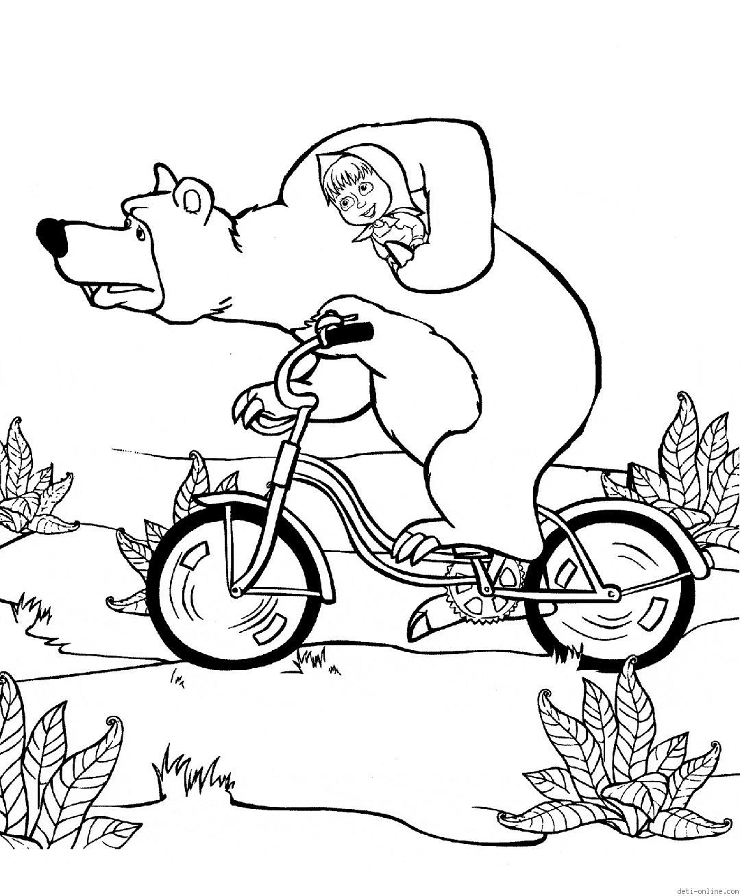 Masha y el oso para colorear | Rayito de Colores | masha | Pinterest
