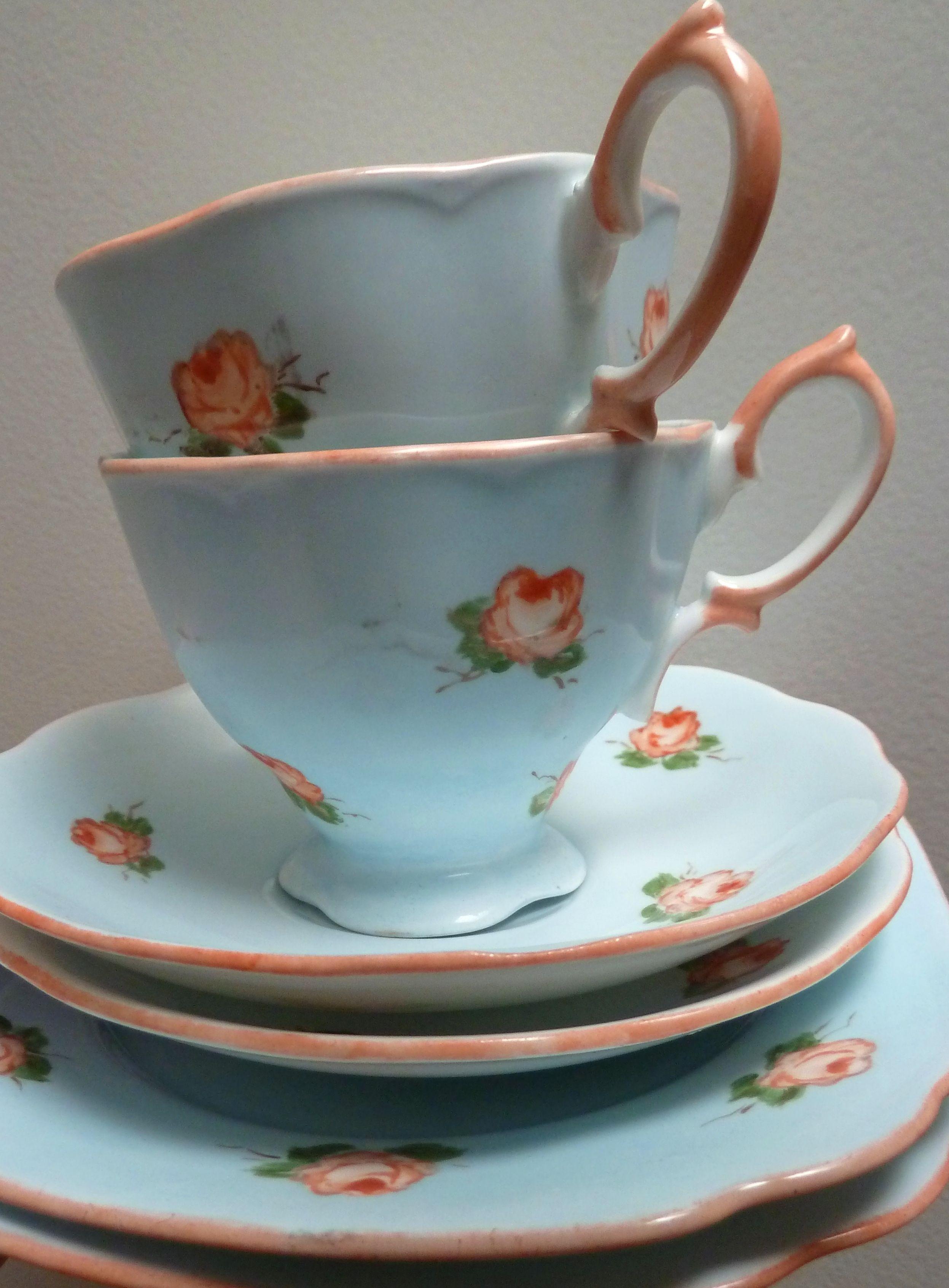 birds egg blue and roses home pinterest aufr umen tassen und geschirr. Black Bedroom Furniture Sets. Home Design Ideas