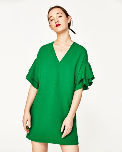2cdba0e82f24 Image 2 of FRILLED-SLEEVE DRESS from Zara | style | Kleider