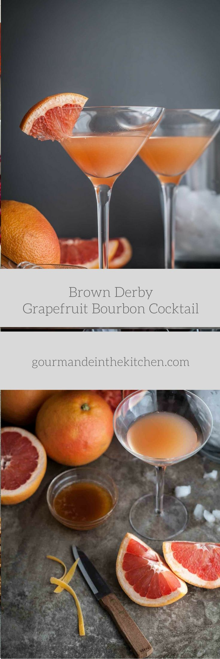 Brown Derby Grapefruit Cocktail | Gourmande in the Kitchen