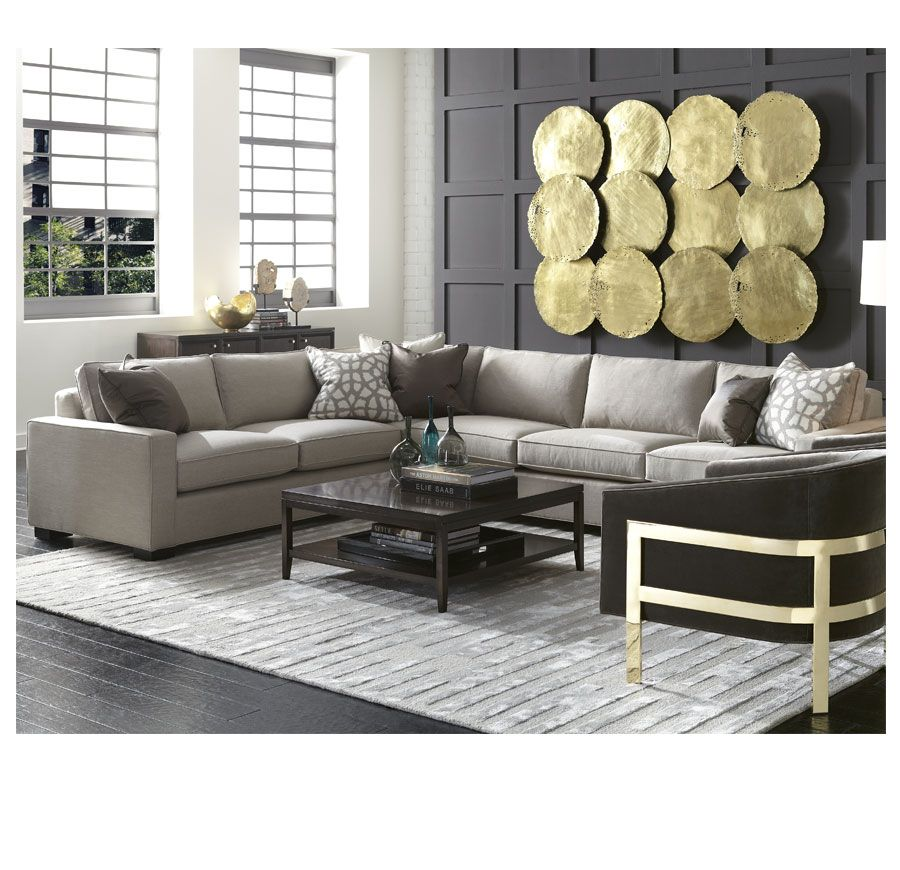 Carson Sectional   Mitchell Gold + Bob Williams   Frame Is Webbed Not Spring
