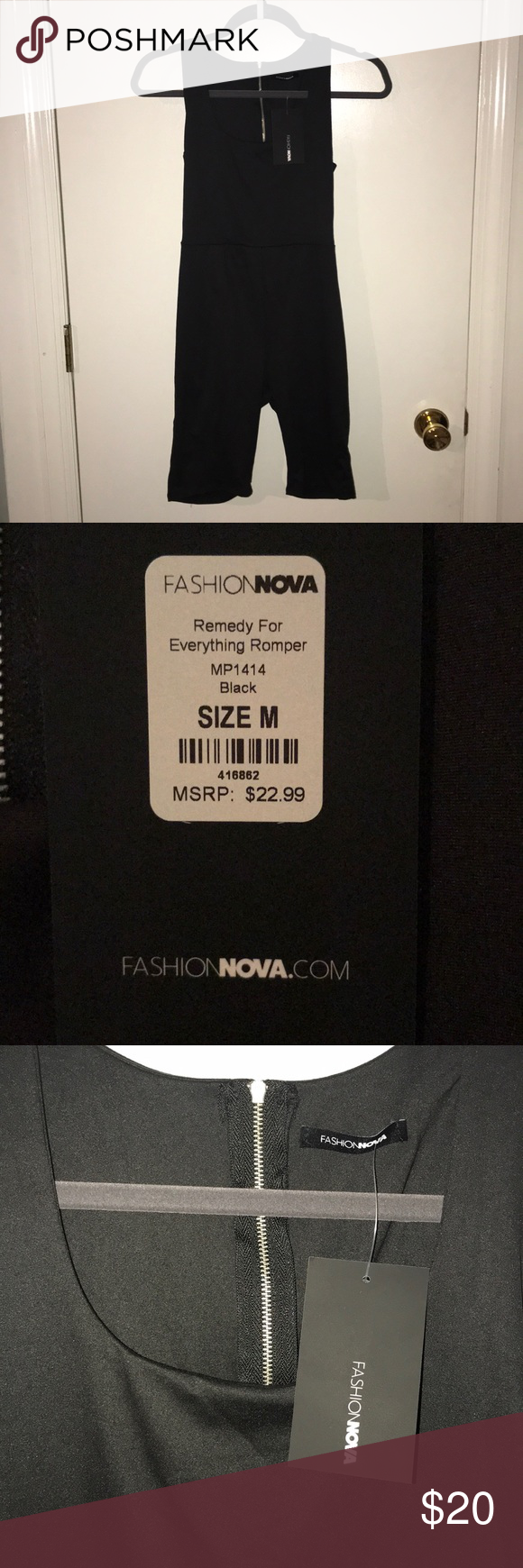 dcd4d5955d76 Fashion Nova Remedy For Everything Black Romper Fashion Nova Black Remedy  For Everything Romper with zipper