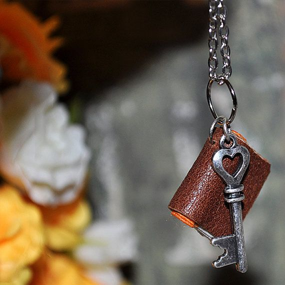 On Sale... Key...secret... tiny leather journal by JunqueTreasures, $19.95