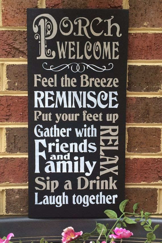 Porch Sign Porch Welcome Porch Rules Great For Front Porch Back