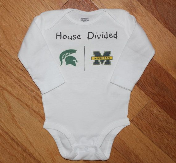 Michigan Michigan State House Divided Baby Clothes