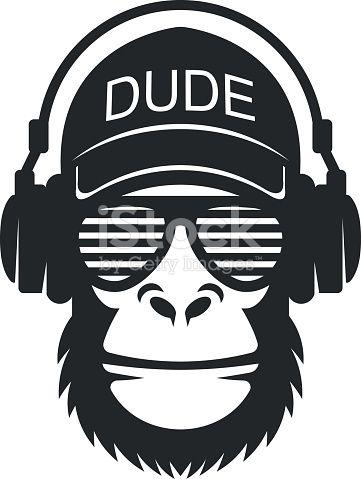 Cool dude monkey with glasses and headphones is part of Silhouette cameo projects - Hämta den här Cool Snubbe Apa Med Glasögon Och Hörlurar vektorillustrationen nu  Och sök i iStocks bildbank efter ännu mer royaltyfri vektorgrafik med bland annat Apabilder för snabb och enkel hämtning