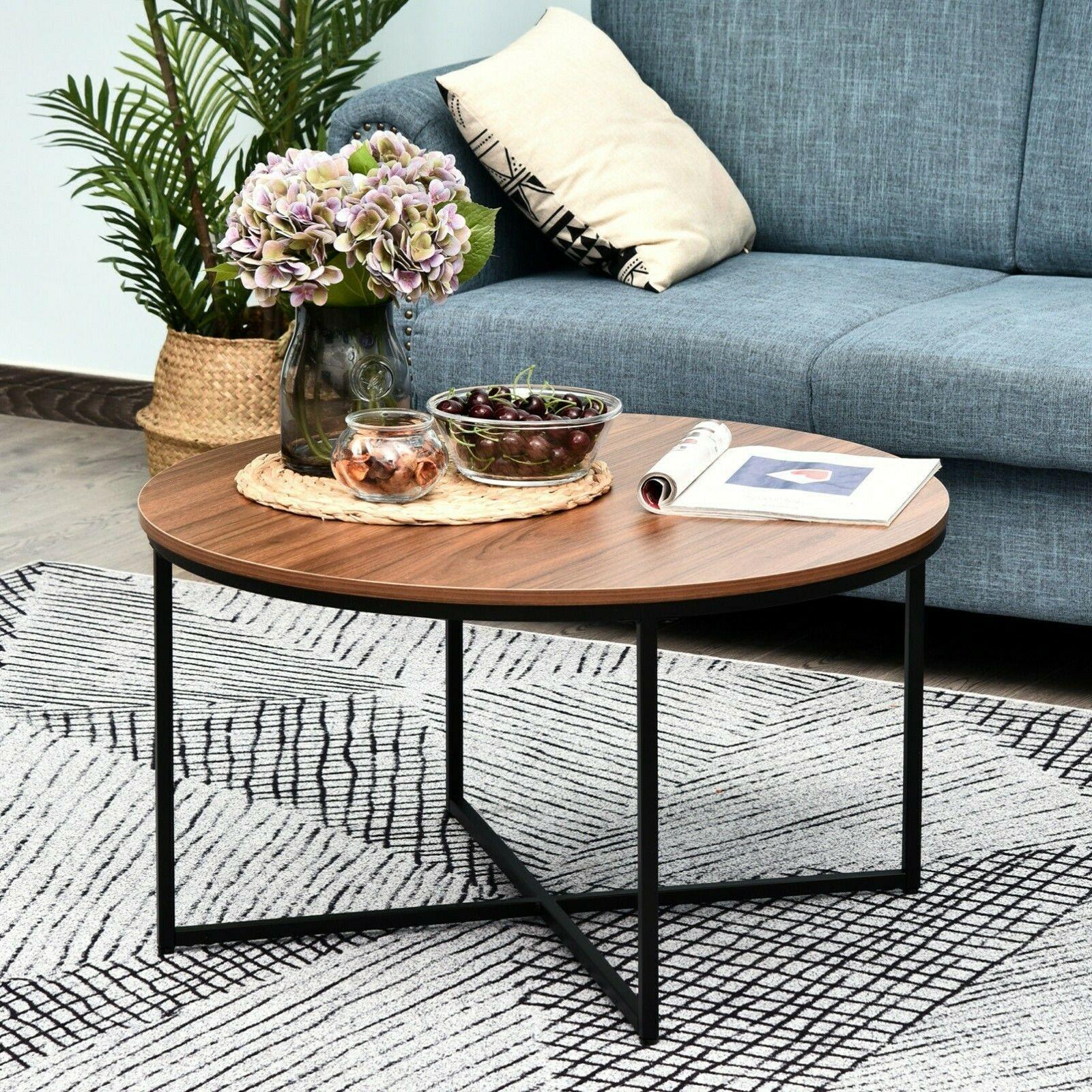 Metal Table Legs Rustic In 2021 Coffee Table Round Coffee Table Living Room Living Room Coffee Table [ jpg ]
