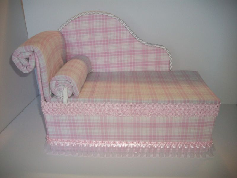 Furniture for American Girl Dolls Handmade Chaise Lounge Bed