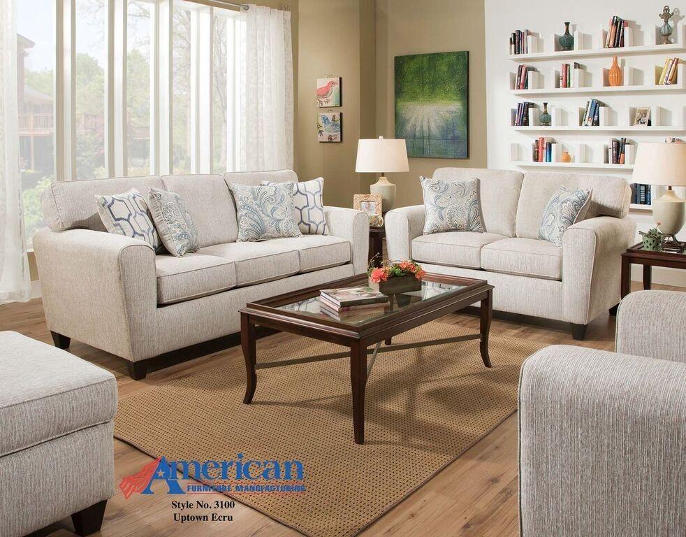 Uptown Ecru Cream Sofa  Loveseat  Living Room  Pinterest Classy No Furniture Living Room Design Decoration