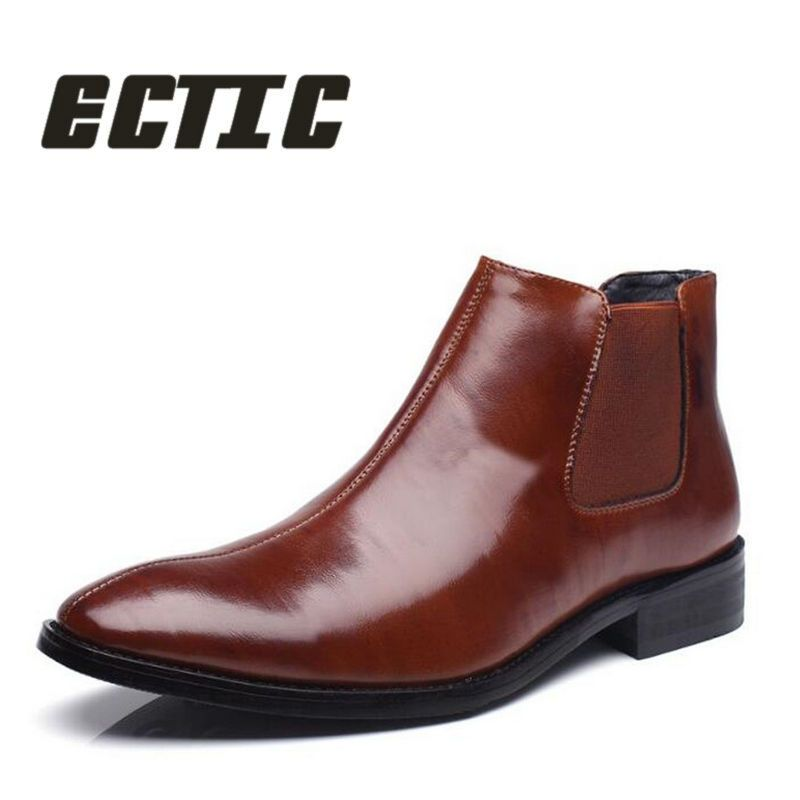 723ad2af31 ECTIC 2018 Fashion Men Wedding Shoes dress leather shoes business ...