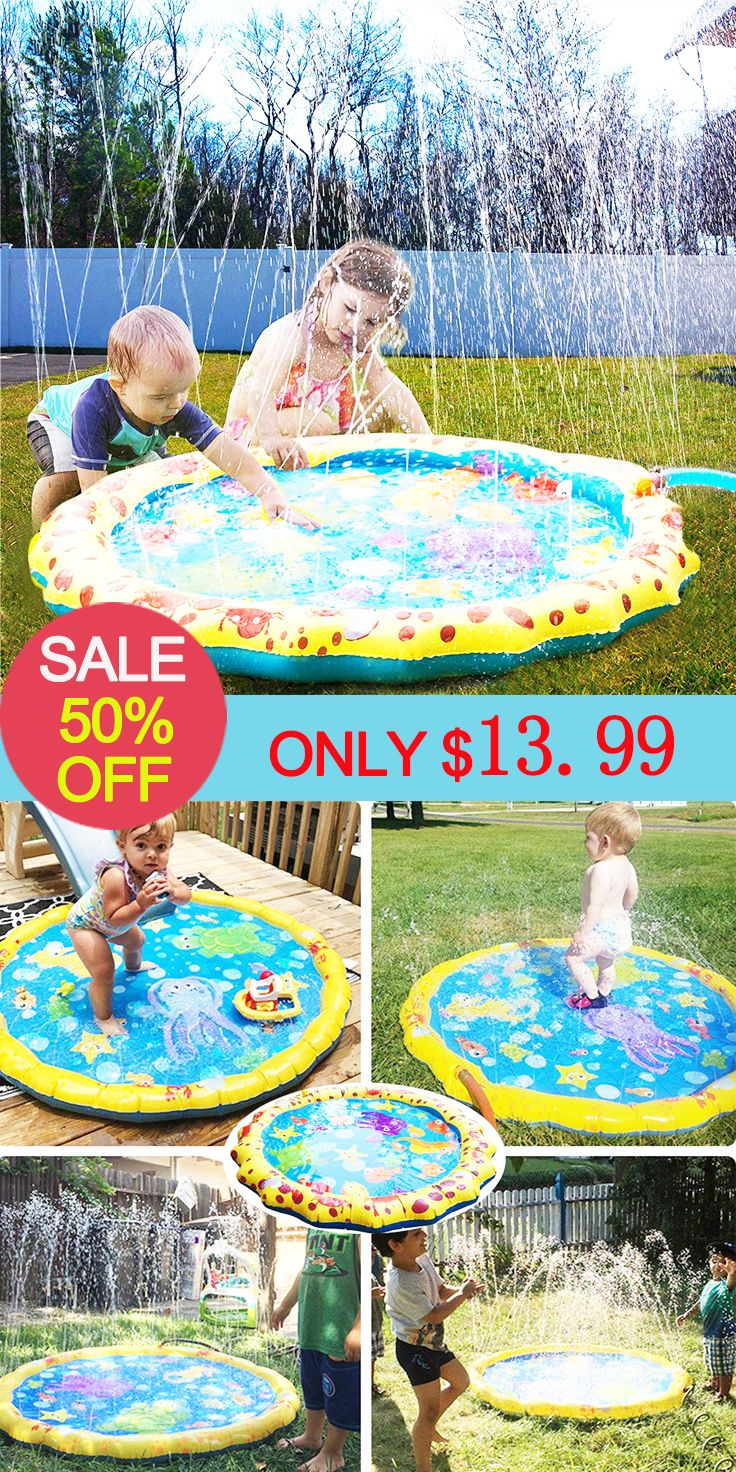 Children S Inflatable Water Spray Game Pad Pvc Water