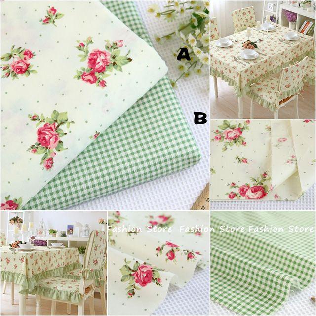 40*50 cm 100% Verde pequena flor de tecido de algodão patchwork DIY Costura tecidos quilting almofada toalha de mesa têxtil de Casa Verde