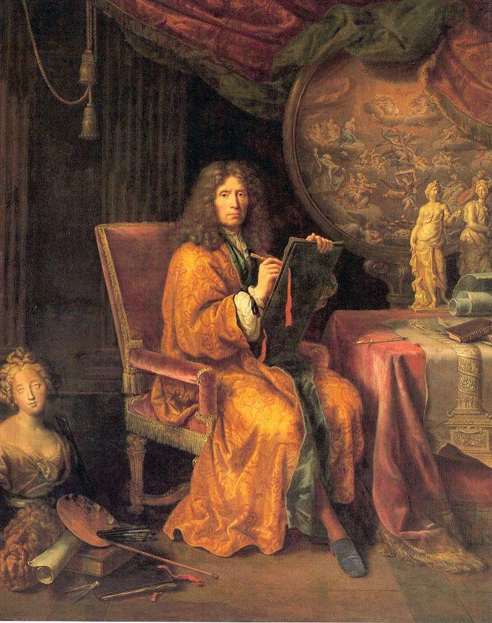 Mignard-autoportrait - Self-portrait - Pierre Mignard, 1690, Louvre.