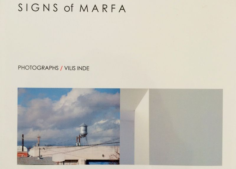 Photographic survey of Marfa - available on Blurb or Amazon