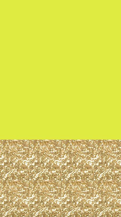 Freebie IPhone 6 Wallpaper Chartreuse Gold Glitter