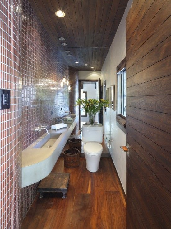 Contemporary Powder Room Design, Pictures, Remodel, Decor and Ideas