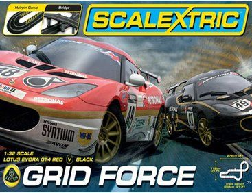 The Scalextric Grid Force Set Offers The Scalextric Enthusiast A Super Scalextric Set Which Includes Cars Controllers And A G Scalextric Digital Racing Evora