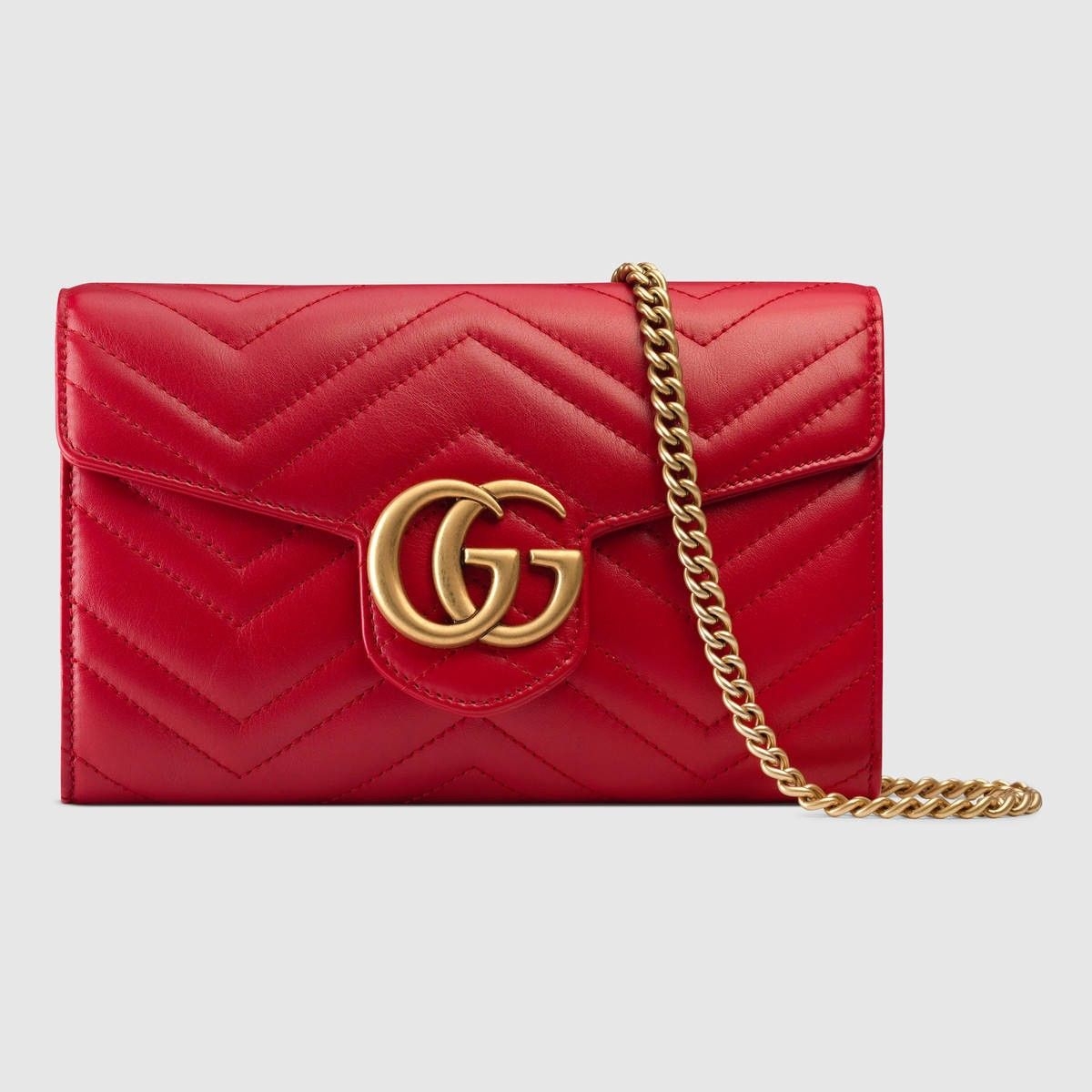 e5c00da30 GUCCI Gg Marmont Matelassé Mini Bag - Hibiscus Red Leather. #gucci #bags  #shoulder bags #wallet #leather #accessories #
