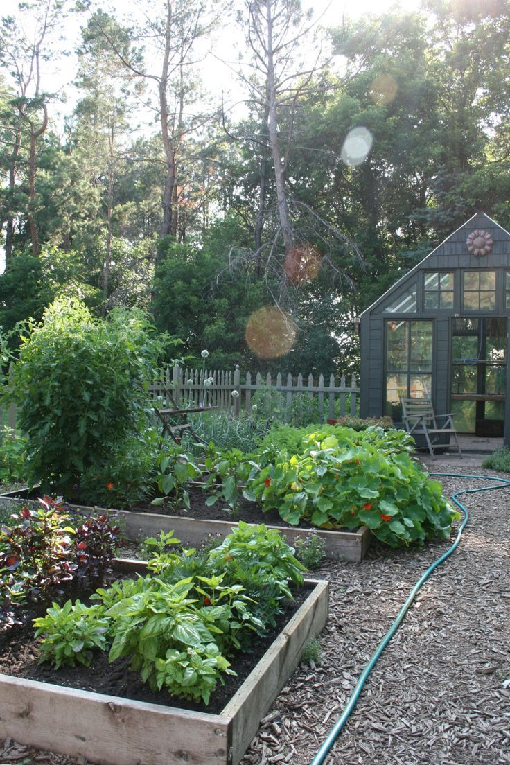 Nearly all of the structure was built with recycled or reclaimed material–we… #veggiegardens