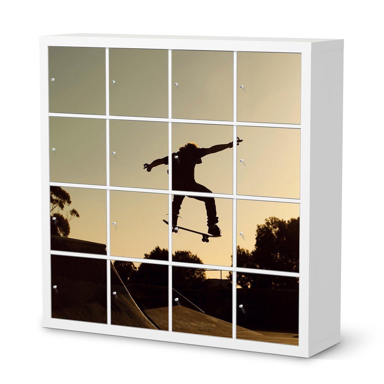 Möbel-Aufkleber Folie für IKEA Kallax Regal 16 Türelemente | Folie ...