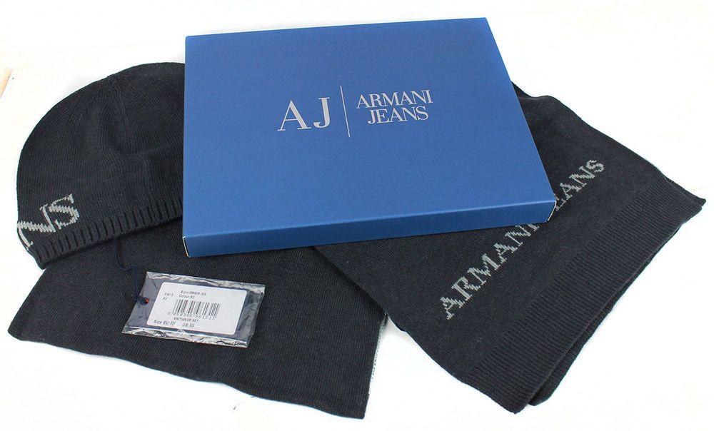 erityinen tarjous ostaa nyt Outlet myymälä Details about Armani Jeans men's knitwear gift set muffler ...