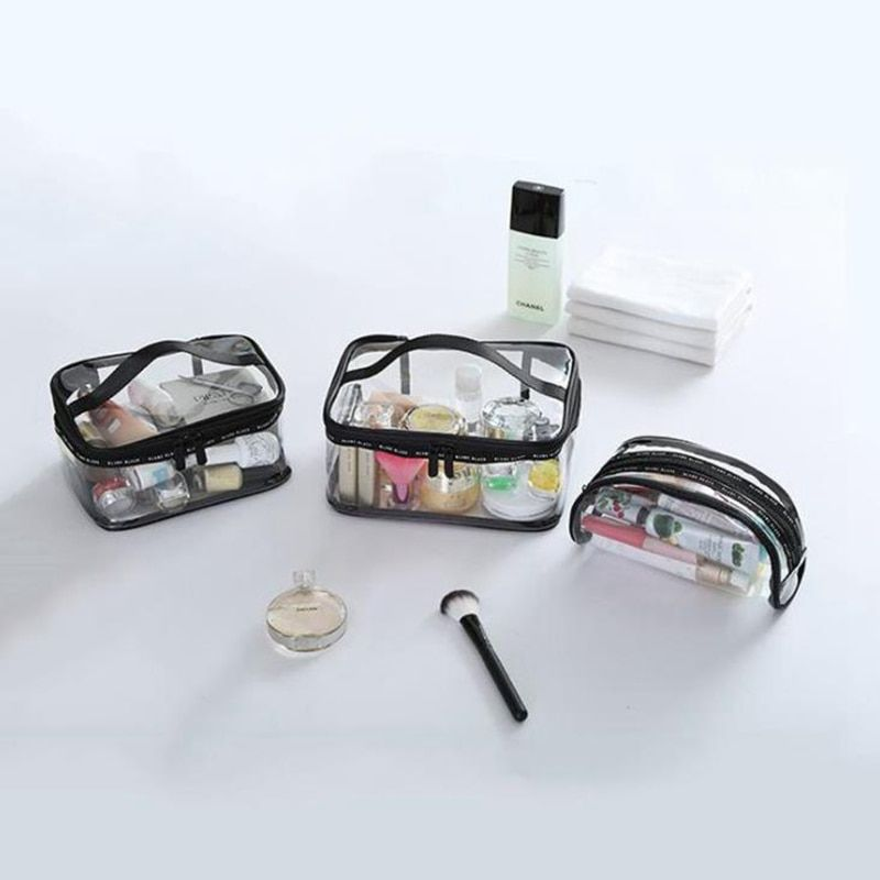 73247be9f46b Waterproof Transparent PVC Bath | Travel Makeup | Wash Organizer ...