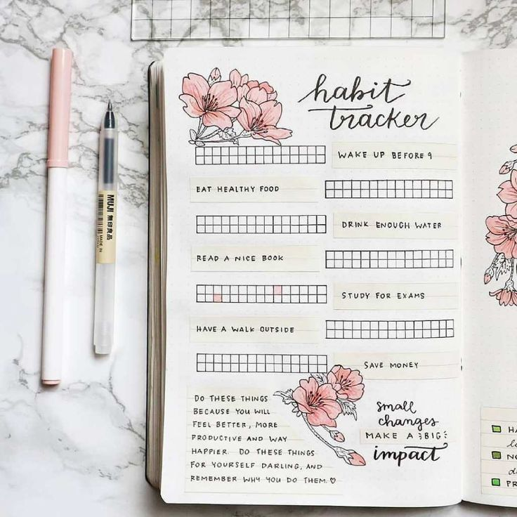 121+ Habit Tracker Ideas for Your Bullet Journal - Planning Mindfully