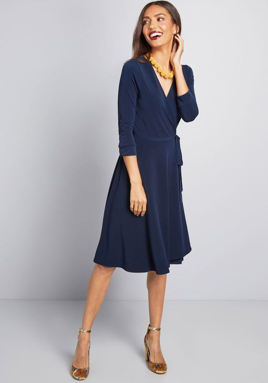 3982c76fb3568 Say Yes to Timeless Wrap Dress