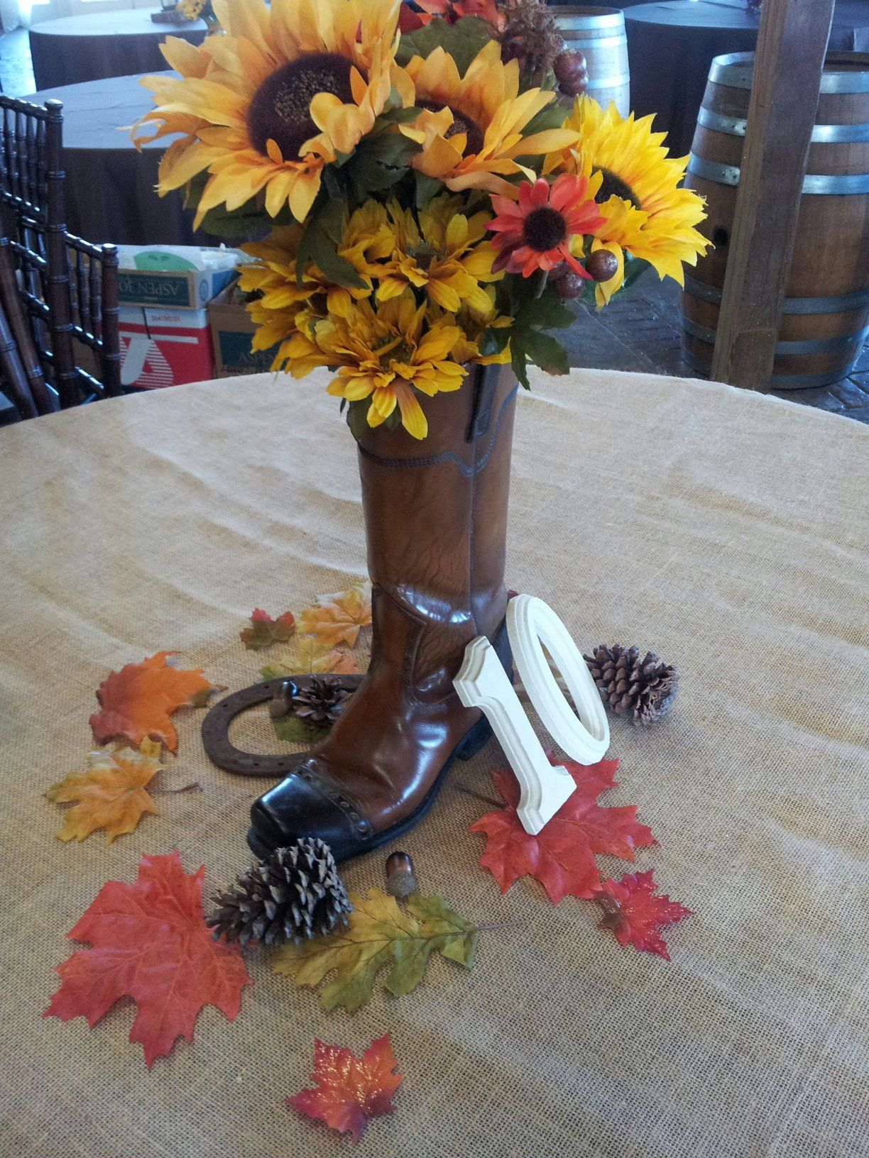 cowboy boot centerpiece wedding decorating ideas wedding rh pinterest com Cowboy Boot Vase Centerpiece Cowboy Boot Wedding Centerpieces