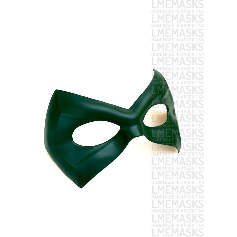 Green Arrow Leather Mask Dark Green Comic Oliver Queen Robin Etsy Super Heroe