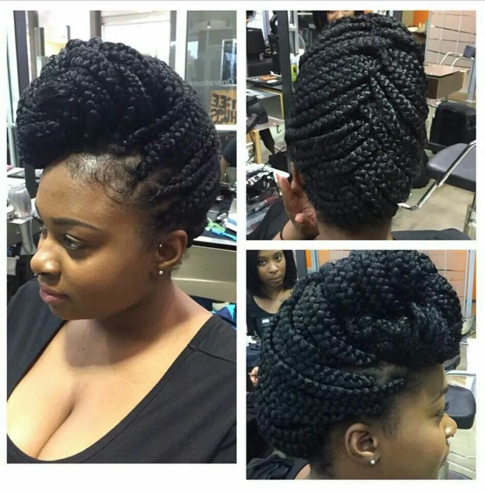 large braided up do | natural hair & beyond | braided