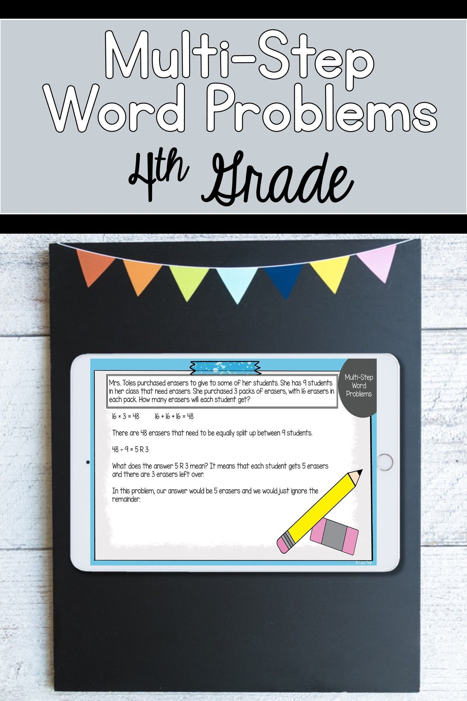 4th Grade Multi Step Word Problems Digital Lesson For